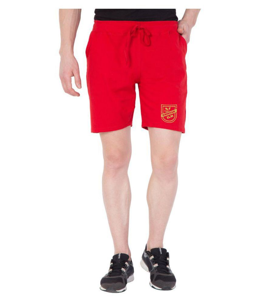 American-Elm Red Shorts