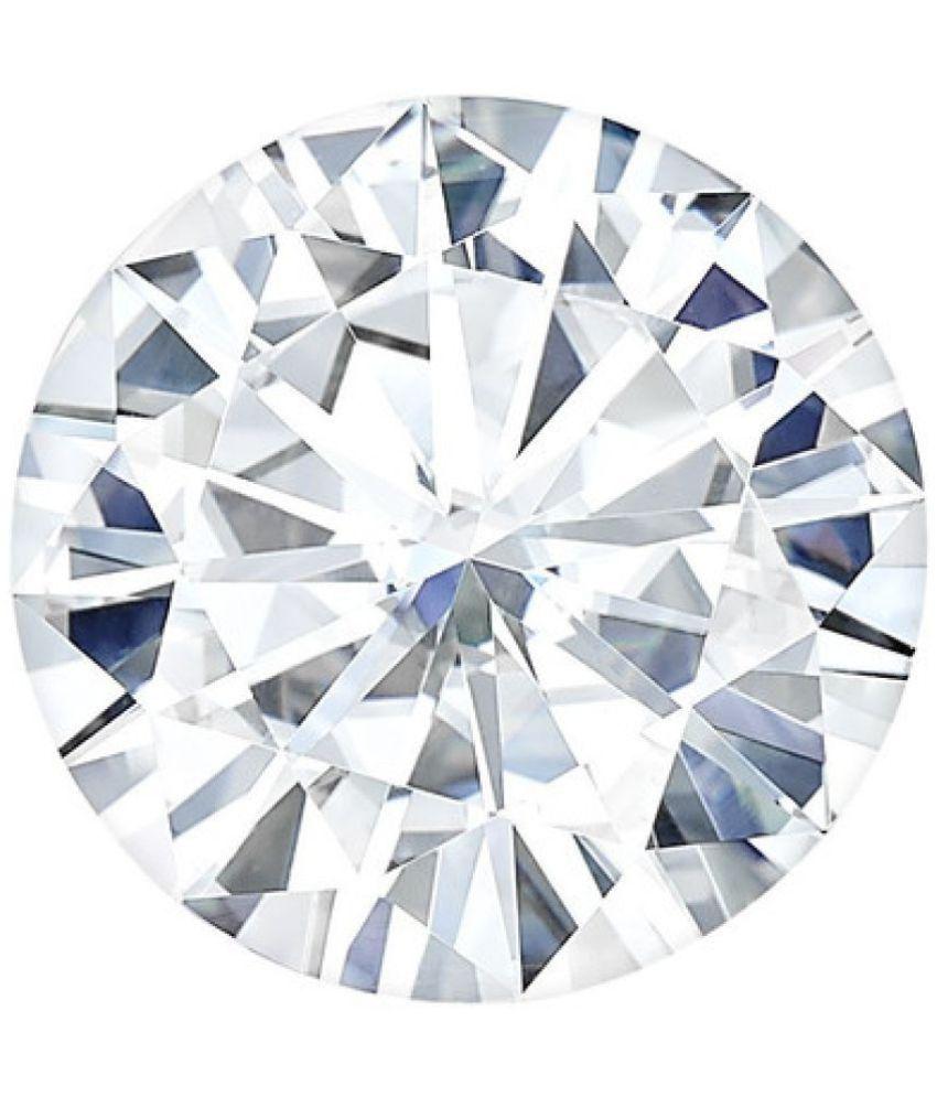 Charles & Colvard (USA) FB Round 6.5mm Solitaire Moissanite Diamond Equivalent