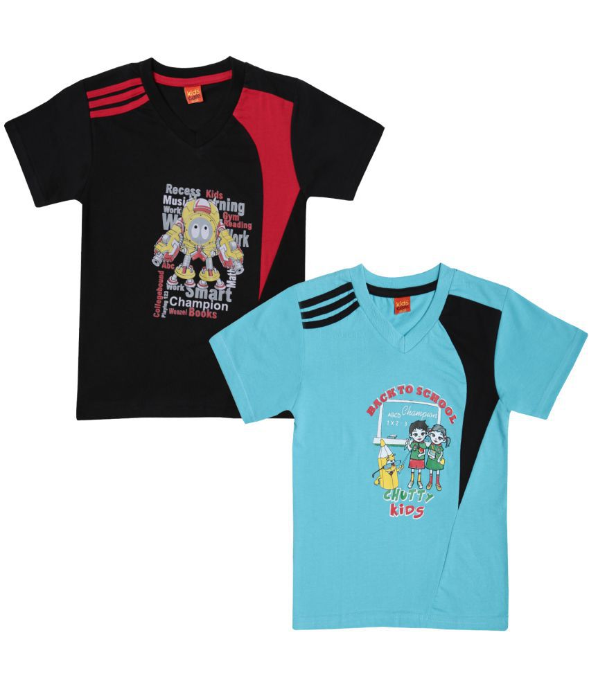 0ce40d6b Dollar Champion Kidswear Boy's casual t-shirt MCBT-404-PO2-BLUE-BLK - Buy  Dollar Champion Kidswear Boy's casual t-shirt MCBT-404-PO2-BLUE-BLK Online  at Low ...