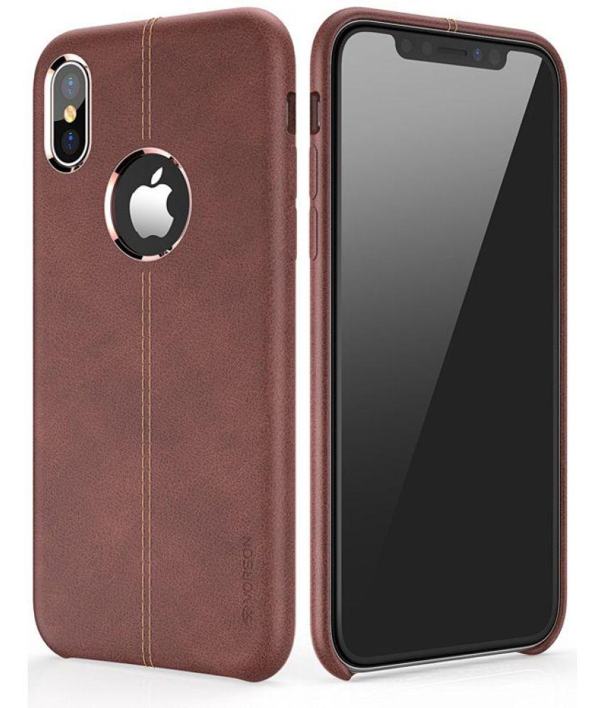 Apple iPhone X Plain Cases TGK - Brown -