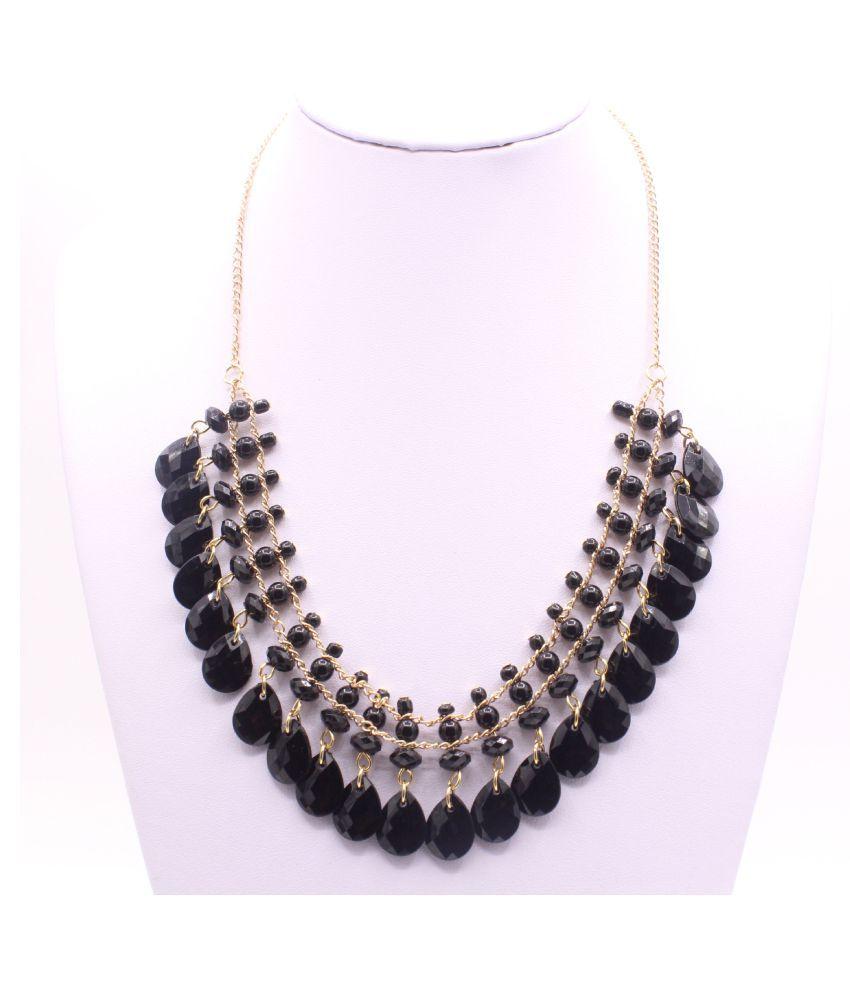 Kamalife Fashion Drop Shape Black Necklace Jewelry Accessories