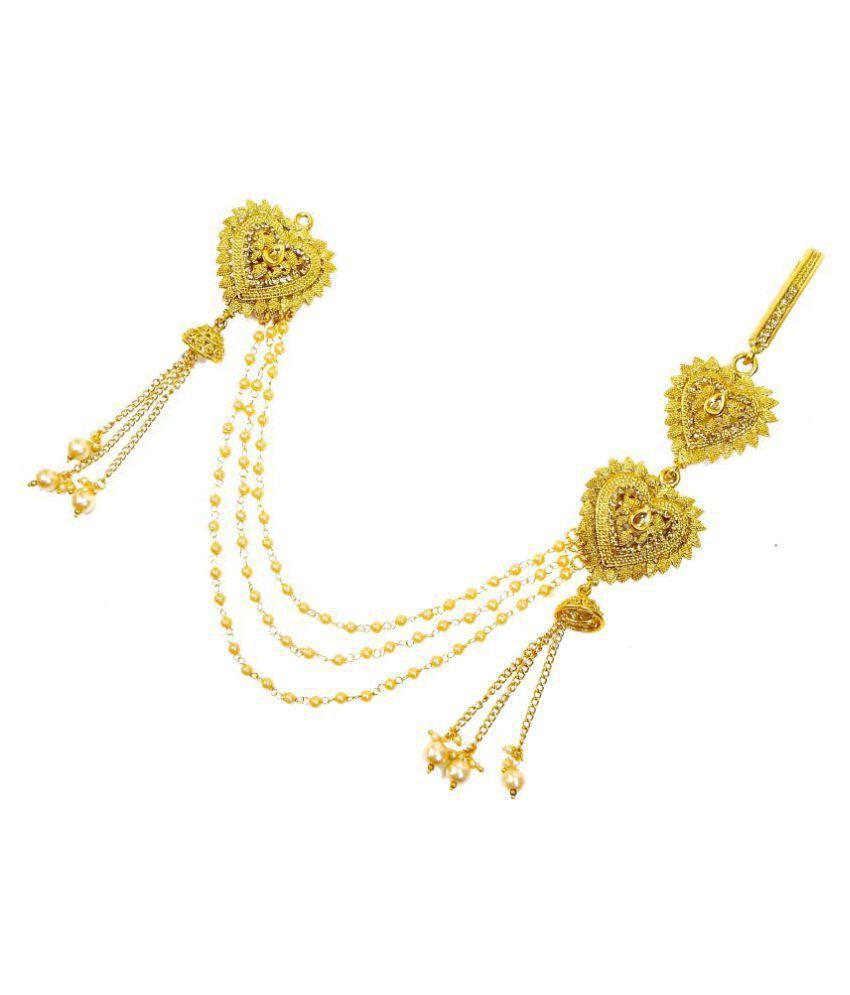 b870312c2 Lalso Golden LCT Kundan Pearl Sareepin Brooch Juda Waist Belly Hip Chain  Belt Kamarband Keychain Ethnic Wedding Jewelry - LSPJ01_LCT: Buy Lalso  Golden LCT ...