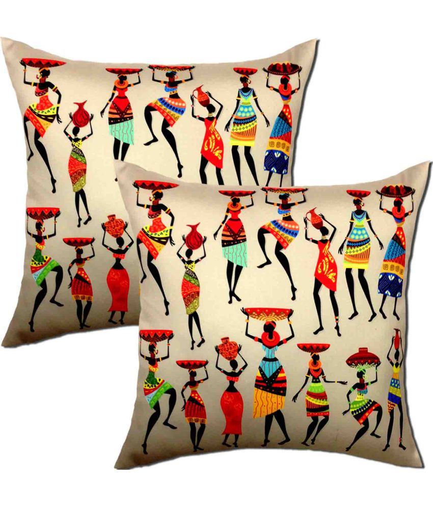 VICEROY Set of 2 Polyester Cushion Covers 40X40 cm (16X16)