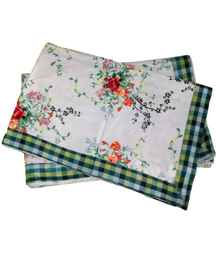 Elan Dreams Single Cotton Multi Contemporary Top Sheet Set of 2