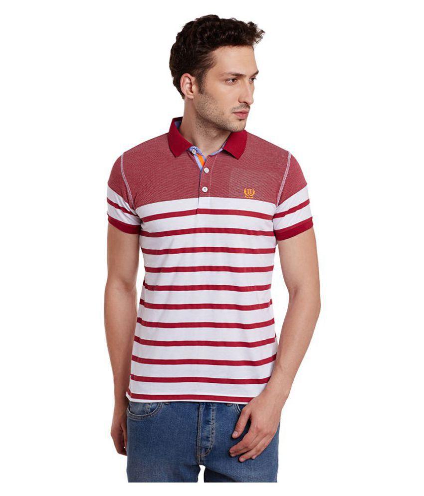Duke Red Slim Fit Polo T Shirt
