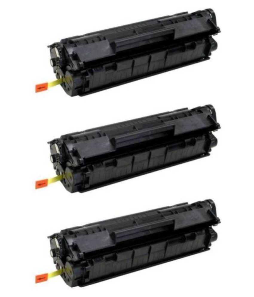Kataria 12A Compatible Black Pack of 3 Toner for HP LaserJet 1010, 1010w, 1012, 1015, 1018, 1020, 1022, 1022n, 1022nw, M1005 MFP,