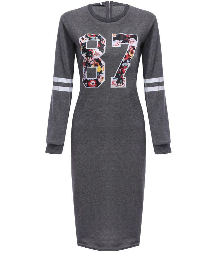 Whitleys Cotton Grey Bodycon Dress
