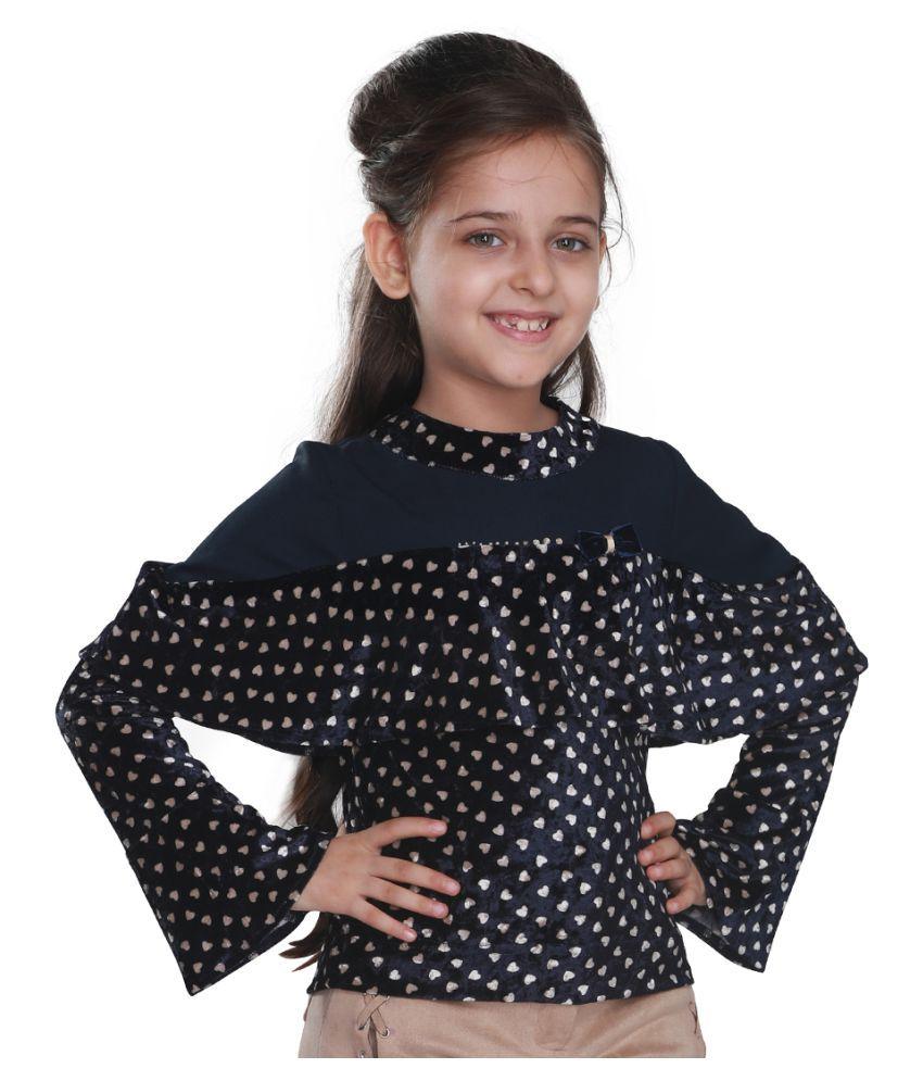 Cutecumber Girls Partywear Chenille & Georgette Top - Buy ...