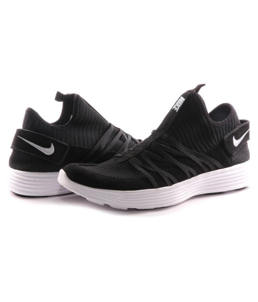competitive price 486c9 a24a3 Nike Lunarlon Black Running Shoes - Buy Nike Lunarlon Black Running Shoes  Online at Best Prices in India on Snapdeal