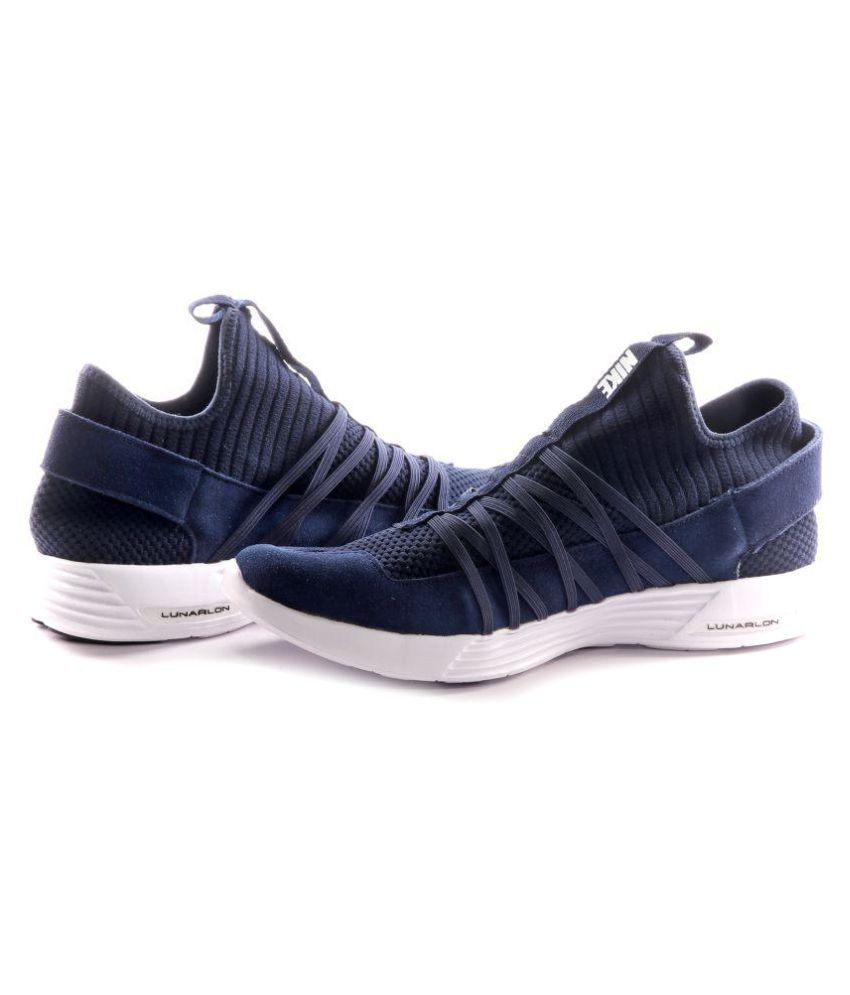 69be3456b60ff Nike Lunarlon Blue Running Shoes - Buy Nike Lunarlon Blue Running Shoes  Online at Best Prices in India on Snapdeal