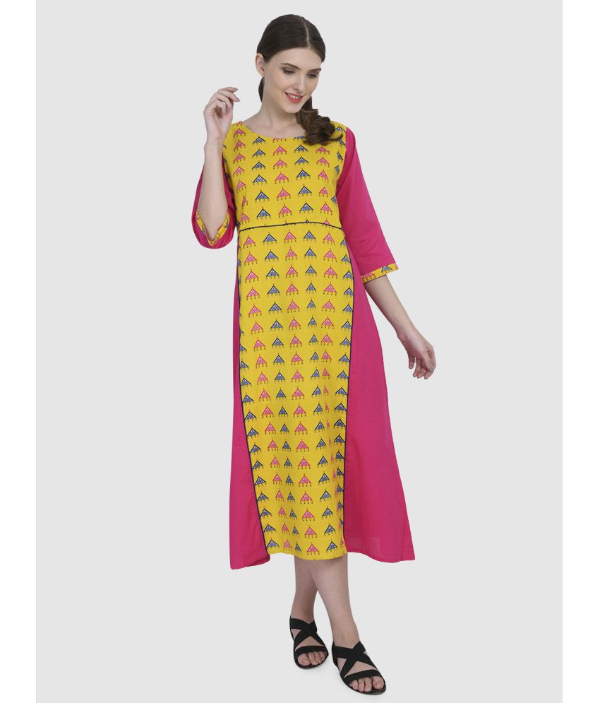 Elenora Rayon Multi Color Empire Dress