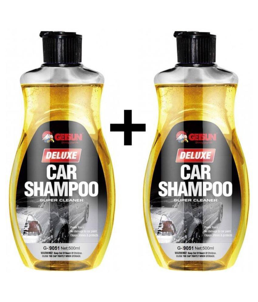 GetSun Auto Deluxe Shampoo Super Cleaner Power Foam Car Washing Liquid   With Lemon Fragrance Liquid Vehicle Glass Cleaner  1000 ml