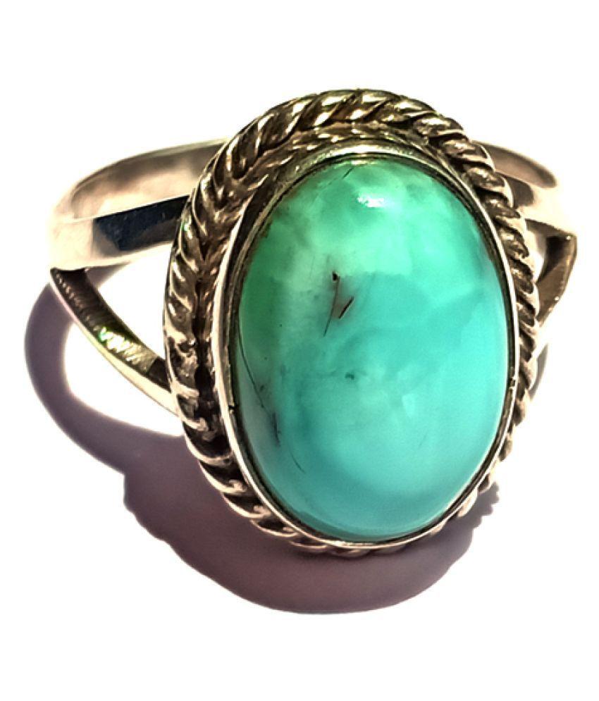 Akshara V Sales 92.5 Silver Larimar Ring