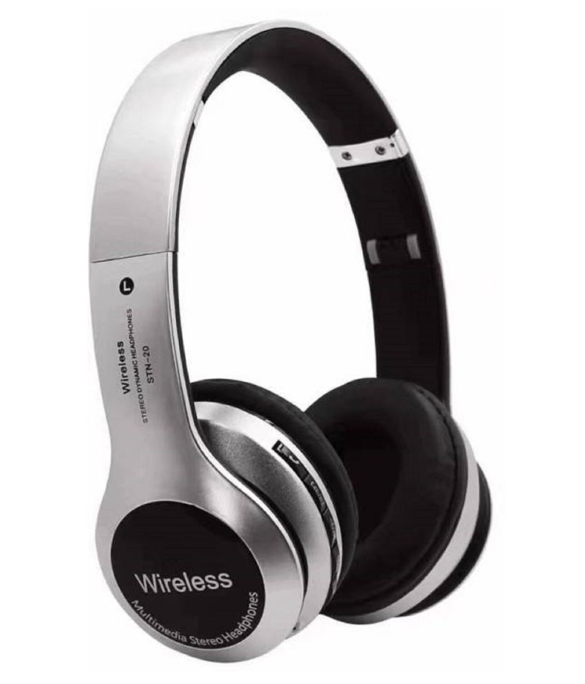 Avika B20 Dynamic Quality, Support to All Smartphone Wireless Bluetooth Headphone Silver