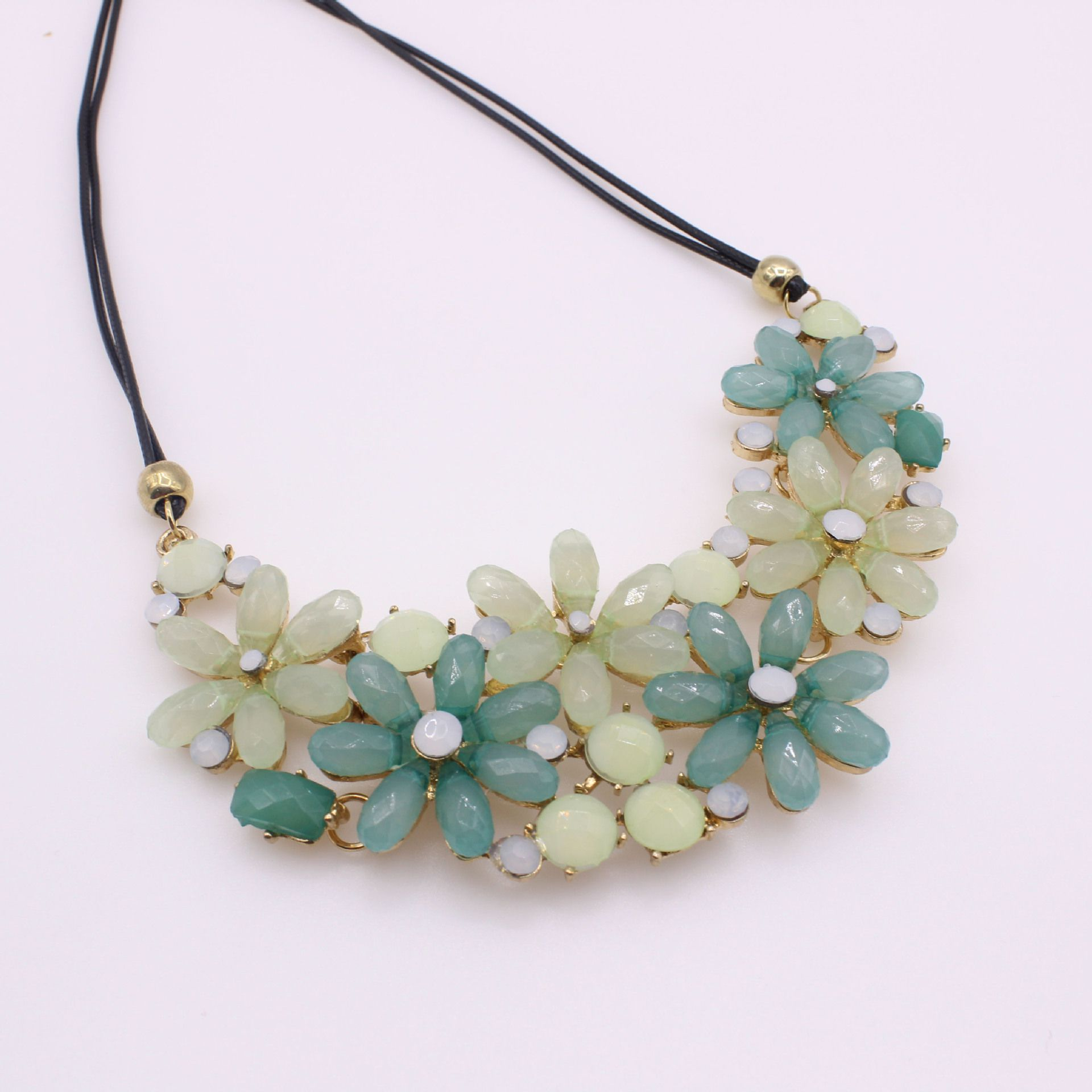 Kamalife Fashion Flowers Blue Necklace Jewelry Accessories
