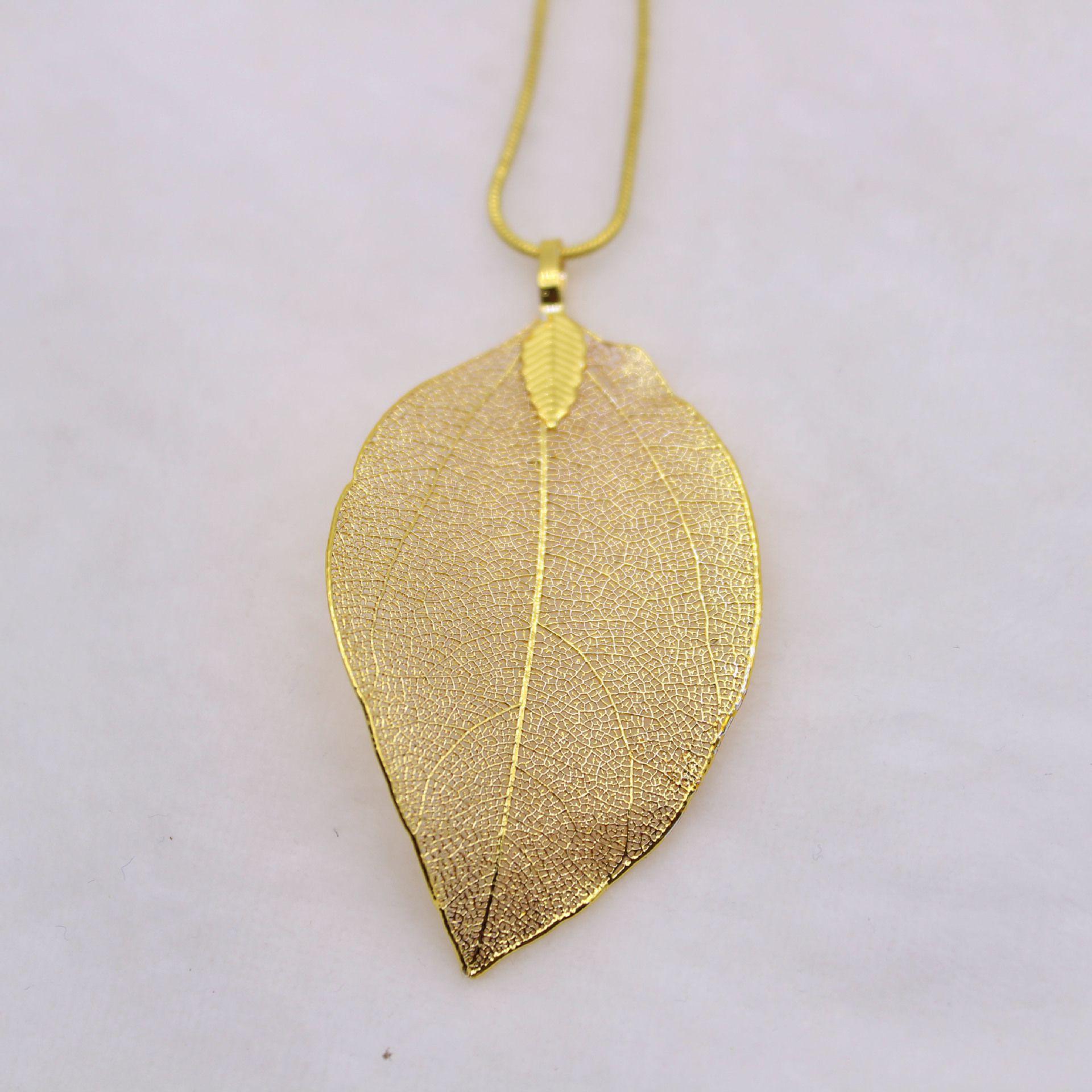 Kamalife Fashion Leaf Gold Necklace Jewelry Accessories