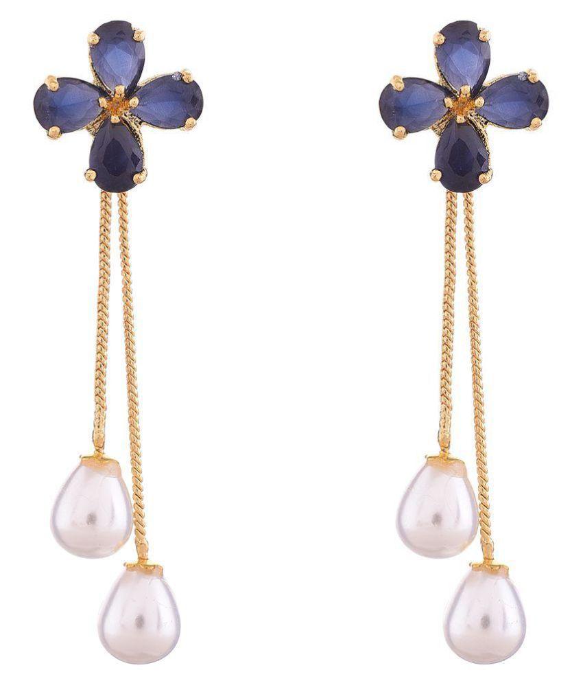 Ratnavali Jewels Fashion Jewellery Gold Plated Sparkling Colors Pearl Fancy  Party Wear Dangle & Drop Earrings Tops Women/Girls - Buy Ratnavali Jewels  Fashion Jewellery Gold Plated Sparkling Colors Pearl Fancy Party Wear