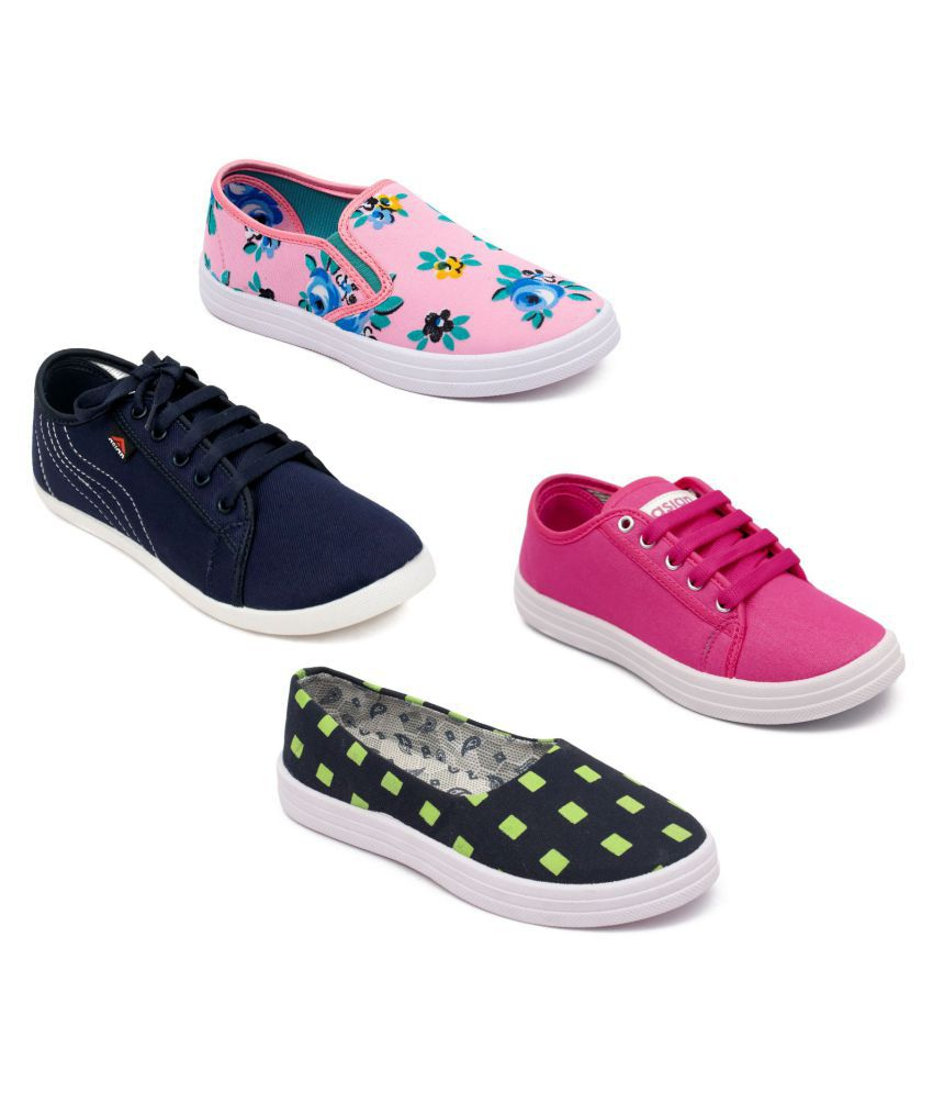 ASIAN Multi Color Casual Shoes Pack Of 4 Combos