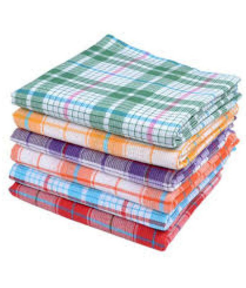 Anshu Creations Set of 6 Terry Bath Towel Multi