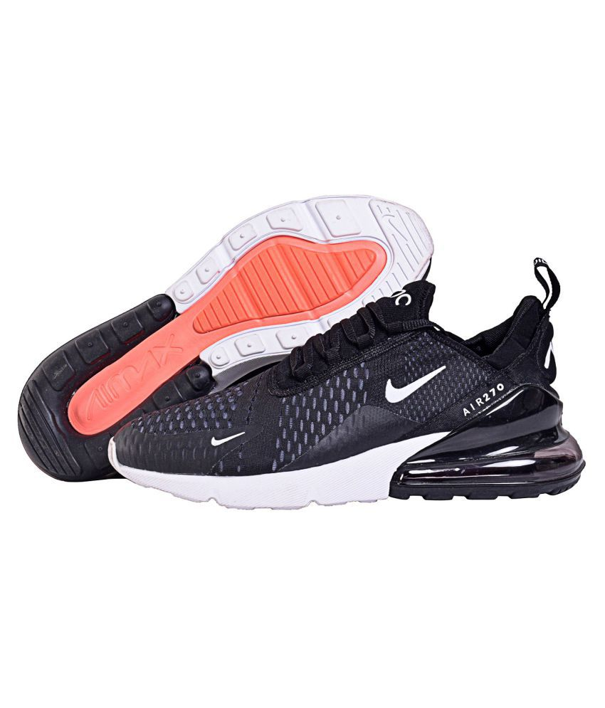 3fa13c808 Nike AIR MAX 270 Black Running Shoes - Buy Nike AIR MAX 270 Black Running  Shoes Online at Best Prices in India on Snapdeal