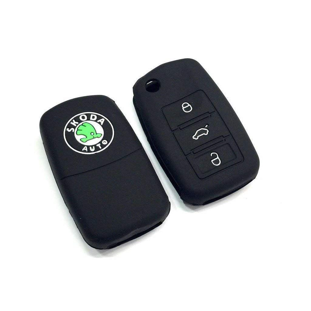 Silicone Car Key Cover Fit For Skoda Octavia Old Laura Superb Yeti