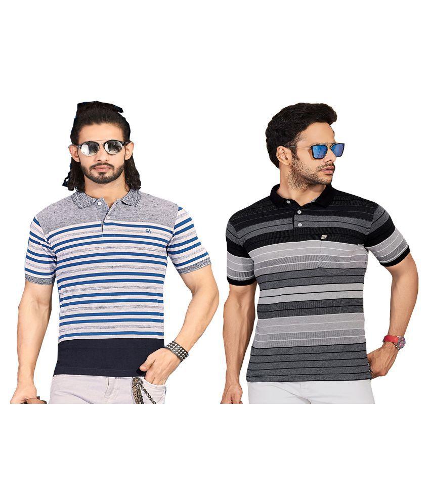 KUNDAN SULZ GWALIOR Multi Half Sleeve T-Shirt Pack of 2