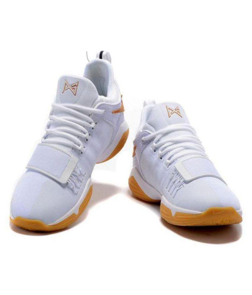 innovative design 52a74 abcab Nike PG 1 PAUL GEORGE White Basketball Shoes