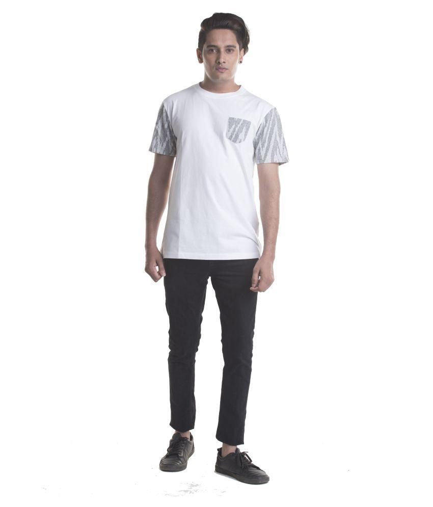 mrstag White Half Sleeve T-Shirt