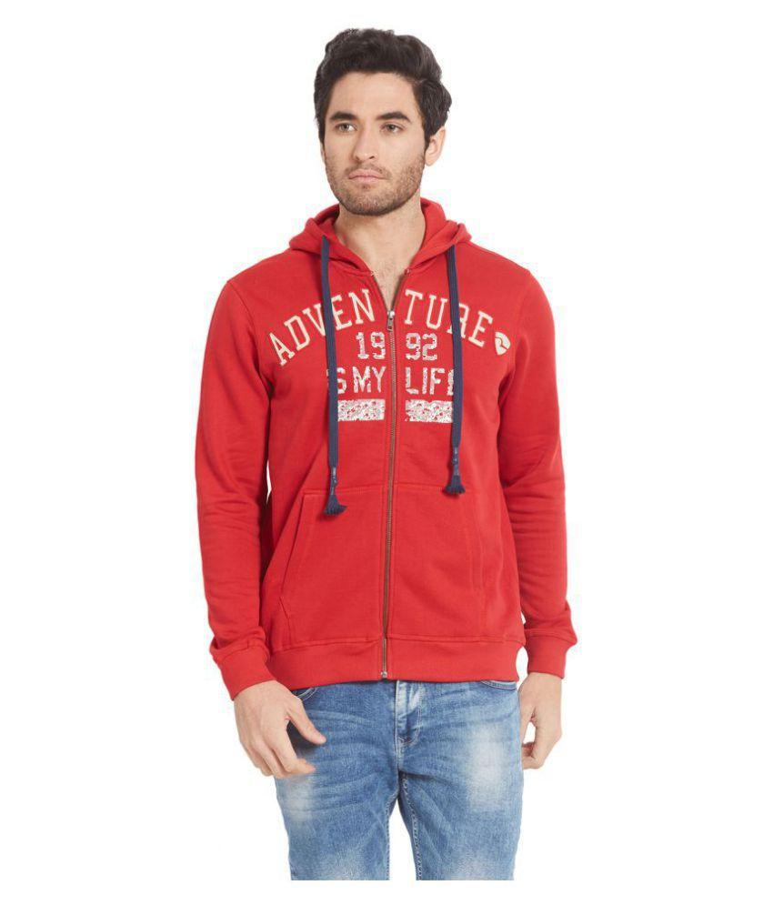 Spykar Red Full Sleeve T-Shirt Pack of 1
