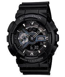 Men Fashion G317 PU Analog-Digital Sports Watch