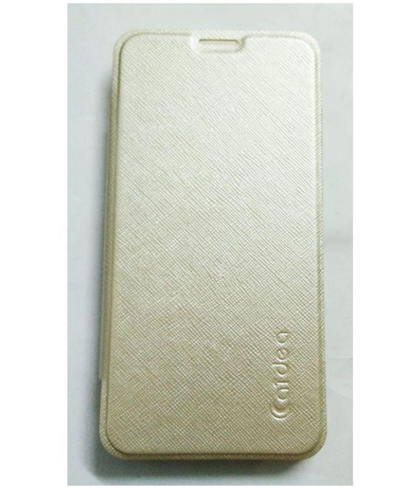 Oppo A37 Flip Cover by Caidea - Golden