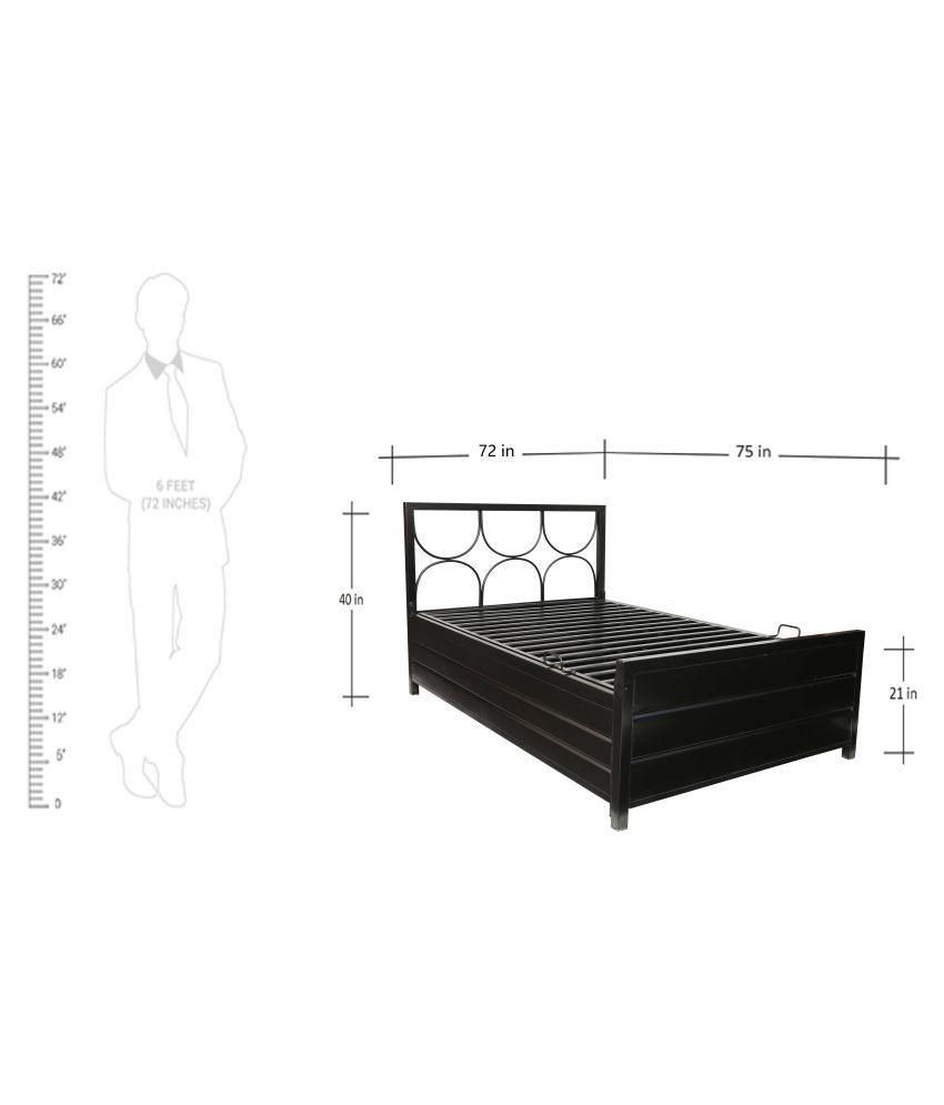 Swastik Furniture King Size Metal Diwan Double Bed