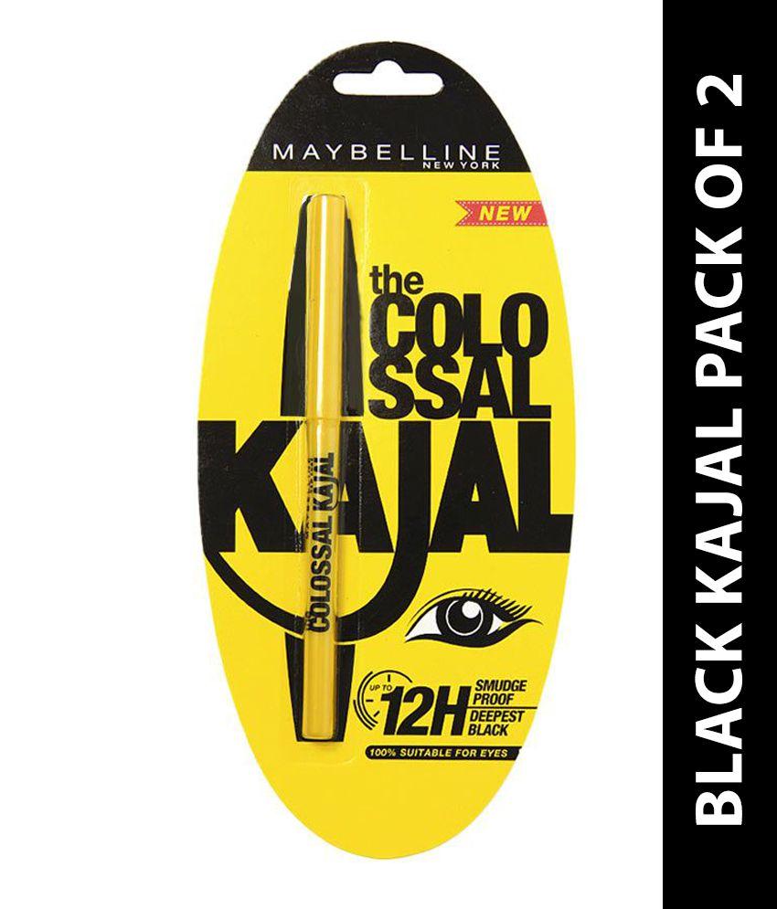 Maybelline Colossal 12H Black Kajal 0.35 gm Pack Of 2