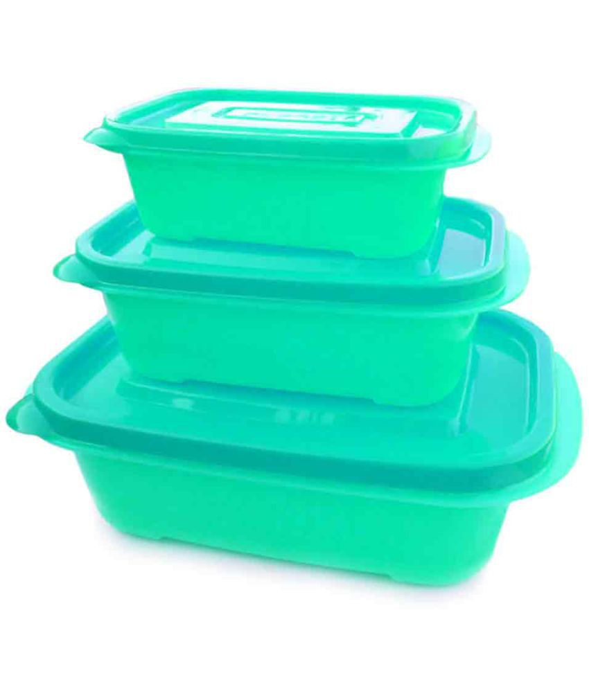 GreenViji Polyproplene Food Container Set of 3
