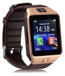 WDS Dz09 Smartwatch Suited Asus ZenFone 6 - Gold Smart Watches