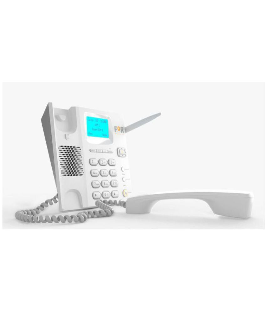 For F2 Wireless Dual SIM GSM Landline Phone ( White )