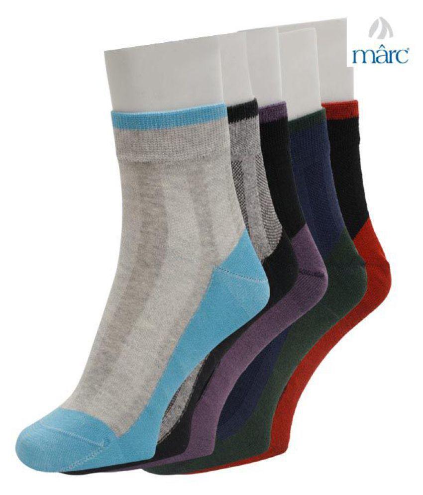 Marc Multi Casual Mid Length Socks Pack of 5