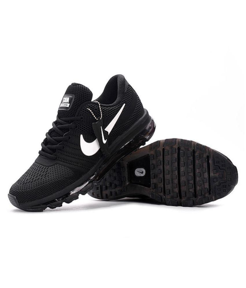 buy popular fcf38 21ea5 Nike Air Max 2017 Rubber Premium SP Black Running Shoes - Buy Nike Air Max  2017 Rubber Premium SP Black Running Shoes Online at Best Prices in India on  ...