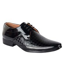 1AAROW Party Artificial Leather Black Formal Shoes