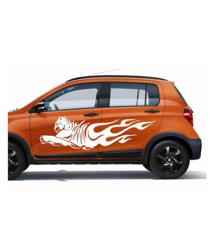 Decor kafe flying tiger car sticker white buy decor kafe flying tiger car sticker white online at low price in india on snapdeal