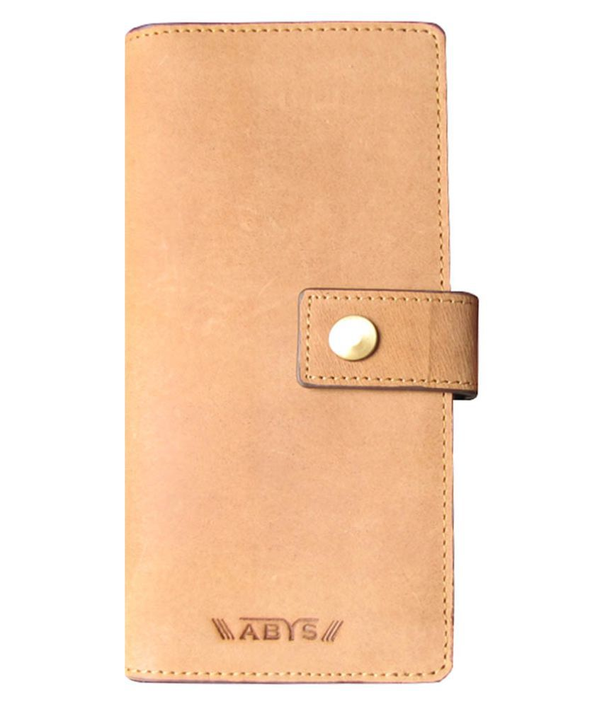 ABYS Tan Pure Leather Handheld