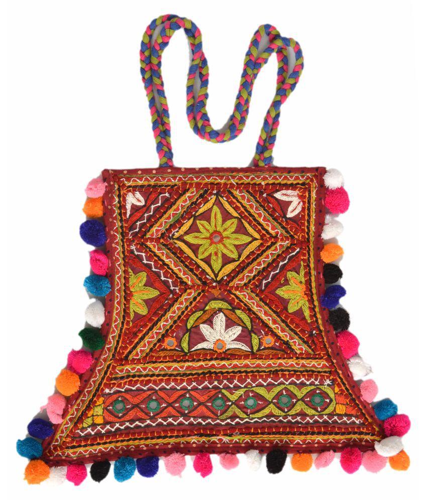 KUTCH CRAFT women handbag Multi Cotton Shoulder Bag