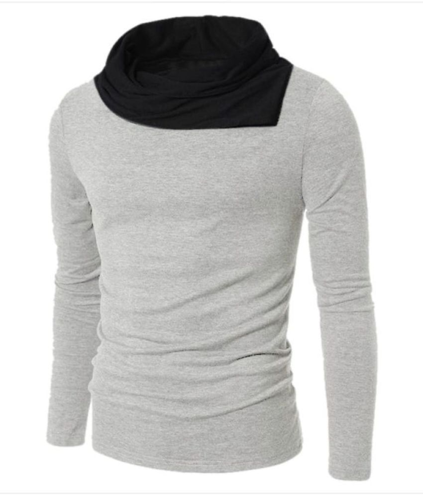 8313c61e2611 Try This Grey High Neck T-Shirt - Buy Try This Grey High Neck T-Shirt Online  at Low Price - Snapdeal.com