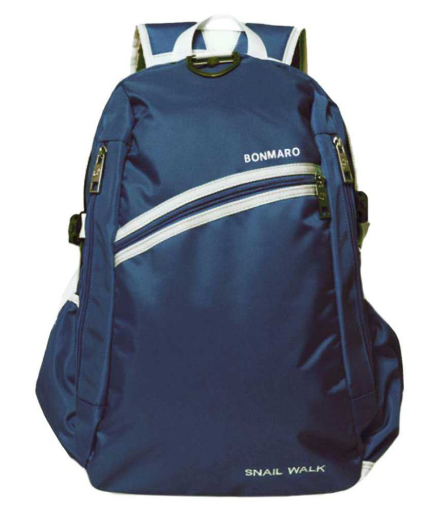 Bonmaro Blue Polyester College Bag - Buy Bonmaro Blue Polyester College Bag  Online at Best Prices in India on Snapdeal f628029b05