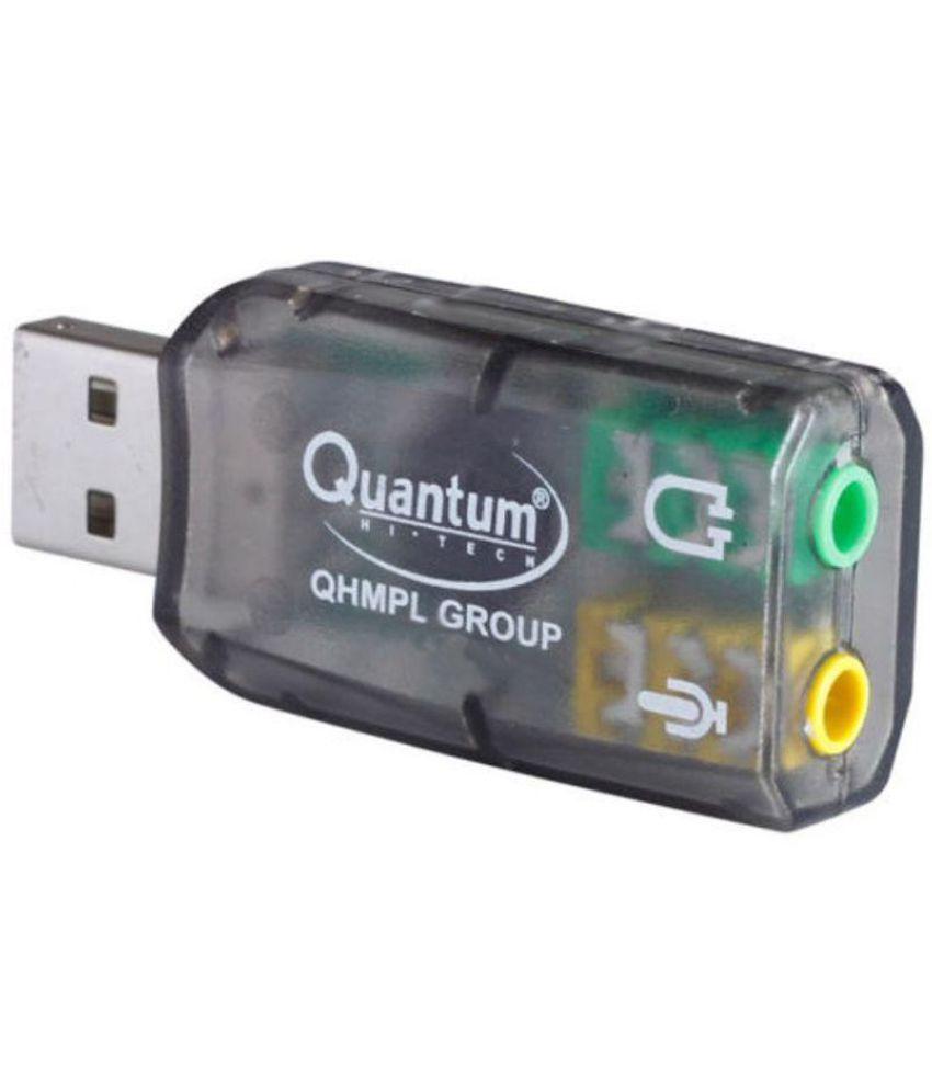 Quantum QHM 623 3D Virtual 5.1 USB Sound Card   USB to Headphone and mic splitter
