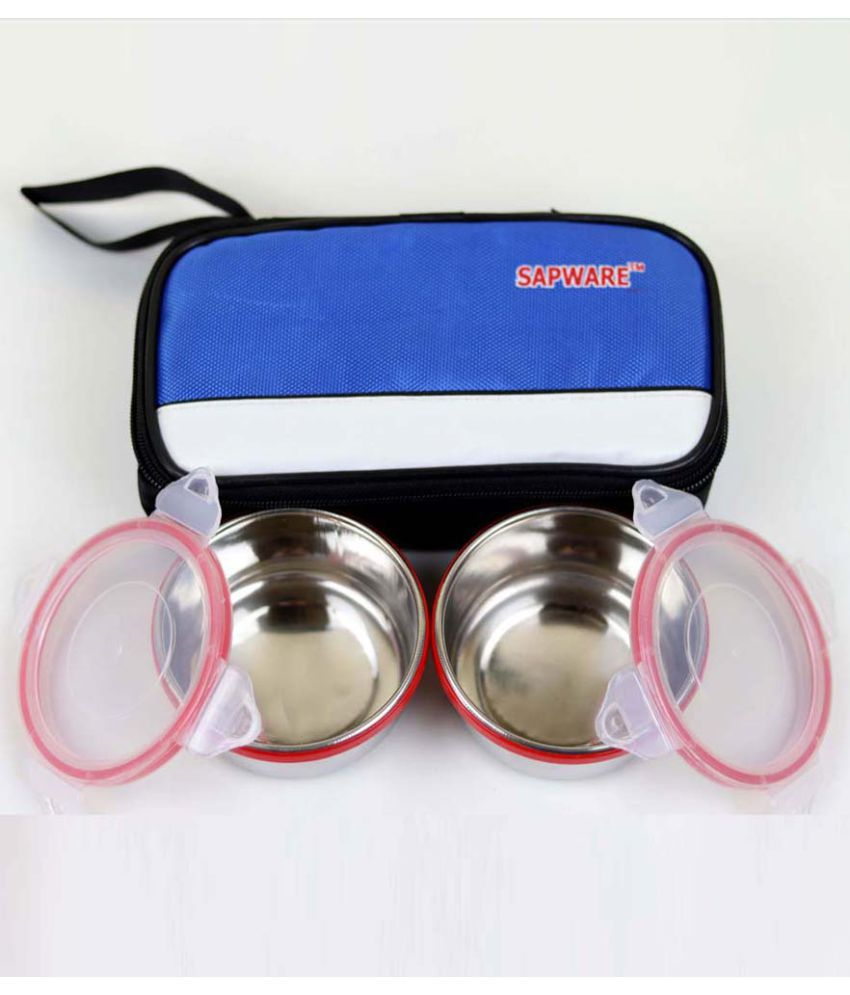 Sapware Multicolour Stainless Steel Lunch Box