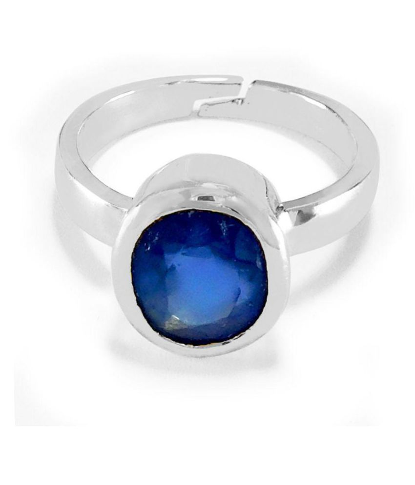 9 ASTRO GEMS & JEWELS 92.5 Silver Sapphire Ring