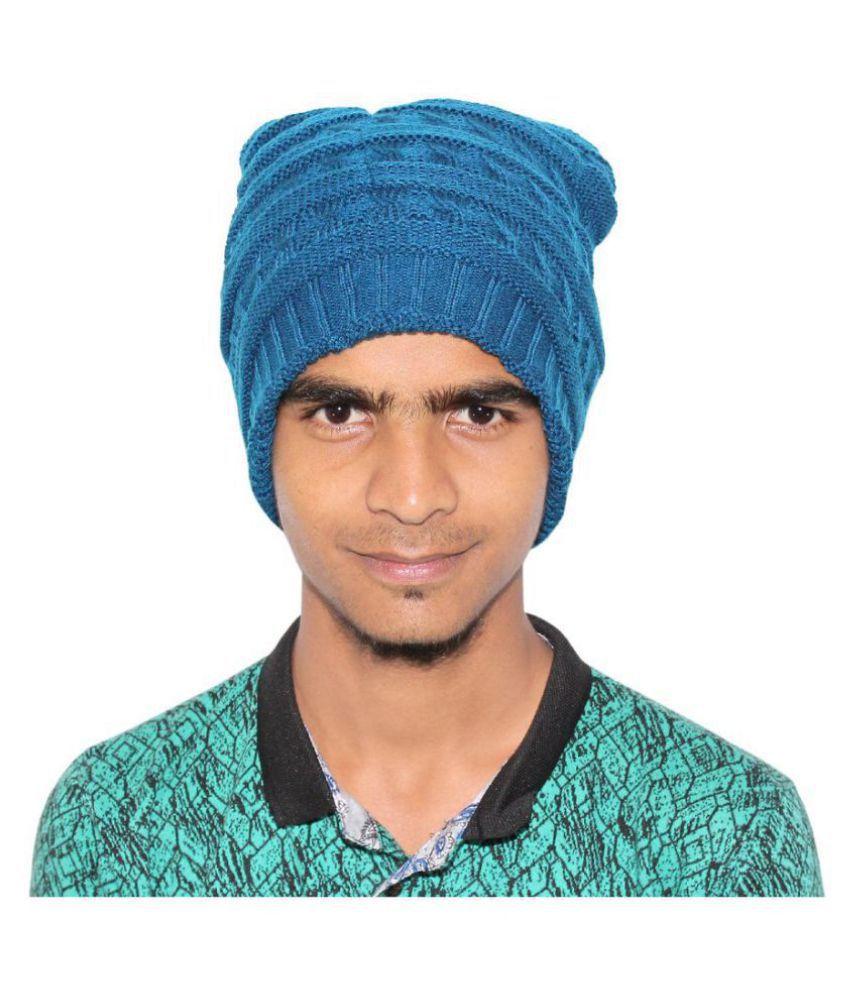 Goodluck Blue Wool Caps