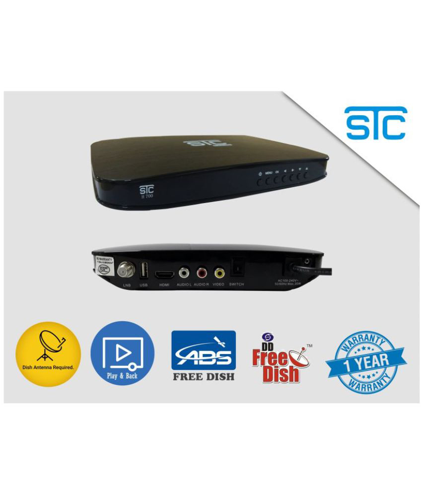 STC Mpeg-4 HD Set Top Box H-700 -Unlimited Recording