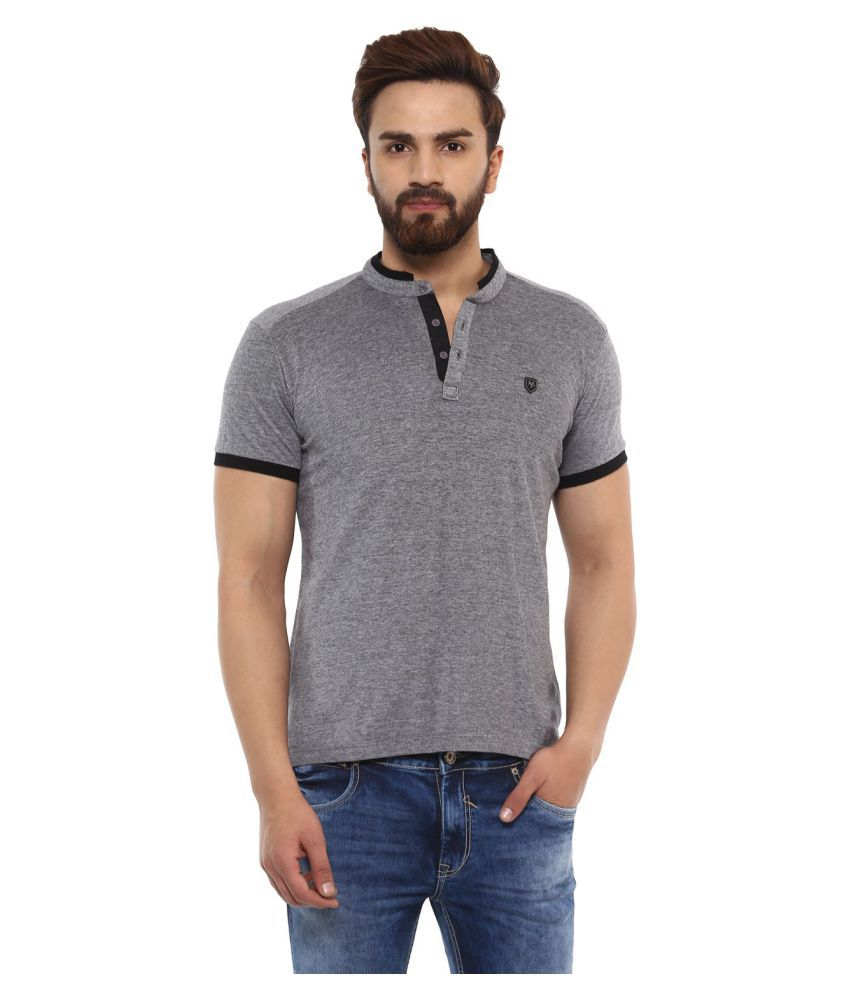 Mufti Grey Half Sleeve T-Shirt